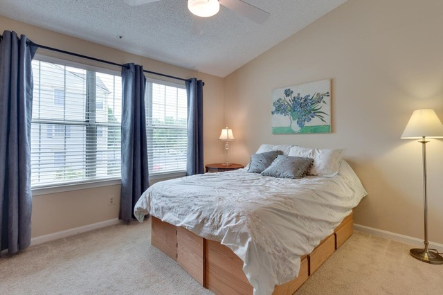 Styled And Staged Condo Master Bedroom