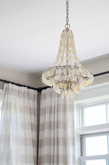 Master Bedroom Capiz Shell Chandelier Traditional Bedroom Boston By