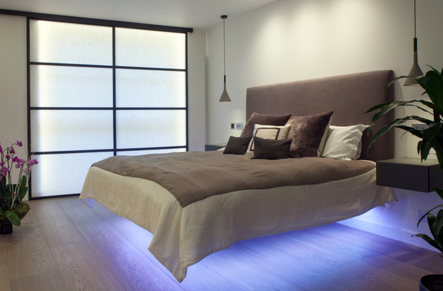 master bedroom contemporary bedroom london by cassidy hughes