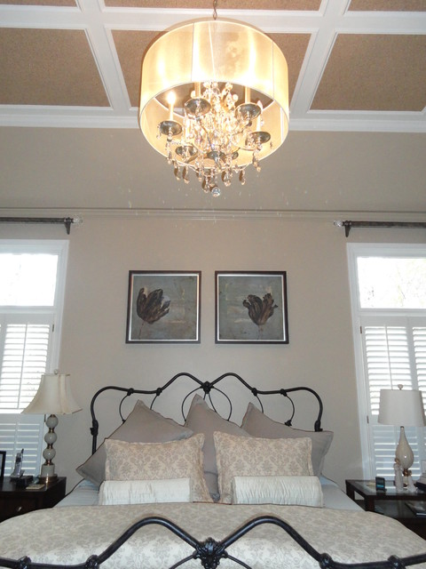 Casual Luxury Bedroom : Master Bedroom Chandalier traditional-bedroom