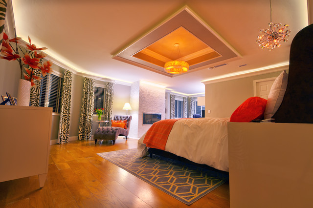 master bedroom cove ceiling design contemporary 14707 | contemporary bedroom