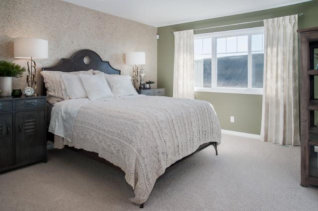 Master Bedroom Darby Show Home In Evans Ridge NW Calgary Modern Bedro