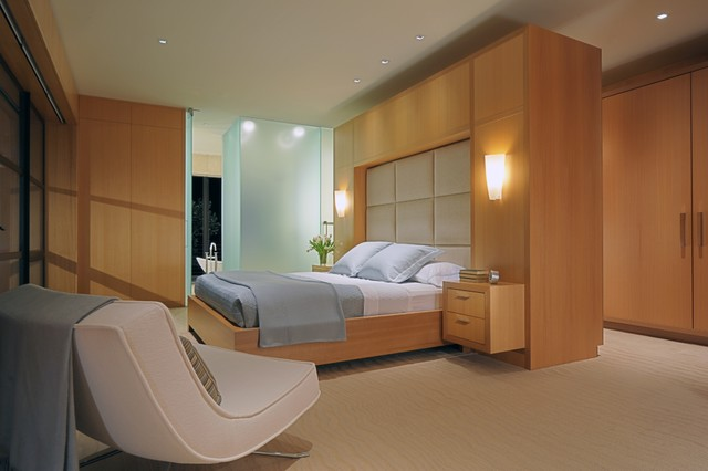 Inspiration For A Large Contemporary Master Carpeted And Beige Floor Bedroom  Remodel In San Francisco