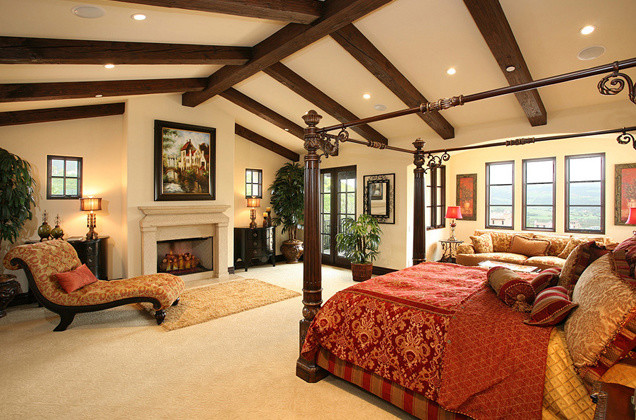 Master bedroom traditional bedroom orange county for Spanish style bedroom