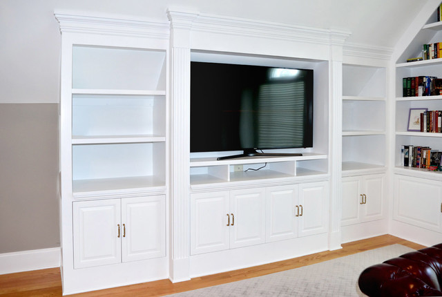 Master Bedroom Entertainment Center Built In Bookcase System