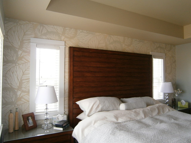 Master Bedroom Feature Wall Tropical Bedroom Vancouver By L L Applications