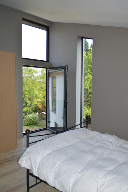 Master Bedroom Featuring A Juliet Balcony Contemporary Bedroom Surrey By Architecturelive