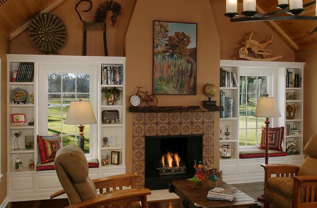 Master Bedroom Fireplace eclectic-bedroom