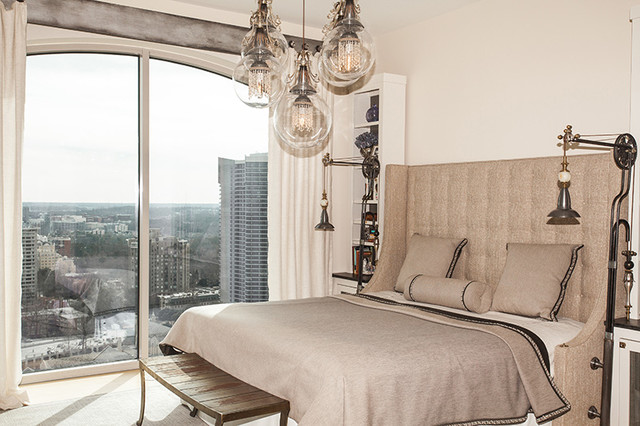Master bedroom High Rise Living eclectic-bedroom