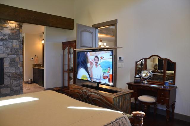 Master Bedroom Ideas Hidden Tv S American Traditional Bedroom Denver By Audio Video Solutions Inc