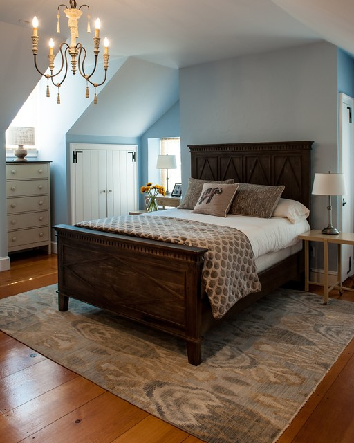 master bedroom in 300 year old farmhouse danziger design