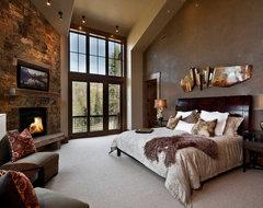 162 white pine - new build rustic-bedroom
