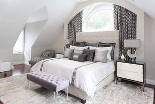 Grey And Silver Bedroom Ideas And Photos Houzz