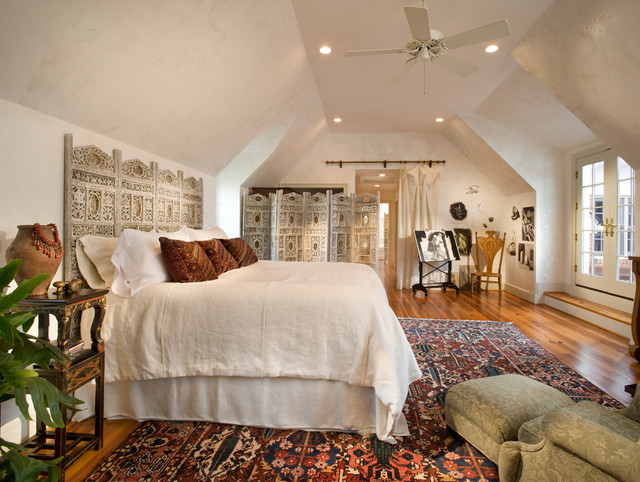 Master bedroom eclectic bedroom dc metro by mcnally interiors Master bedroom ideas houzz