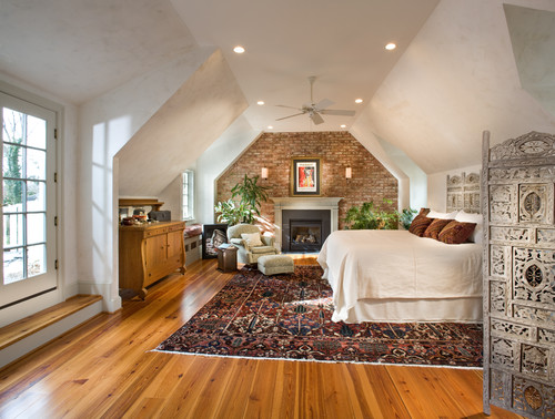 Stylish rooms enhanced by stunning exposed brick walls for Eclectic master bedroom ideas