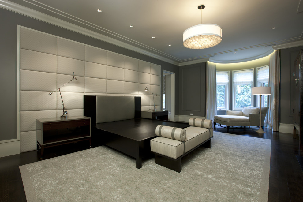 Example of a trendy bedroom design in Chicago