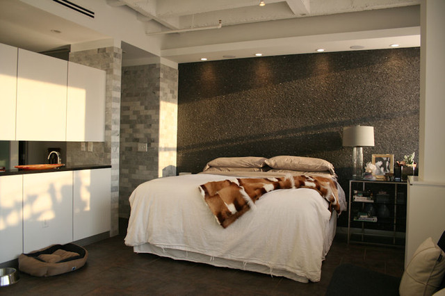Master Bedroom - Midtown Loft Renovation - modern - bedroom