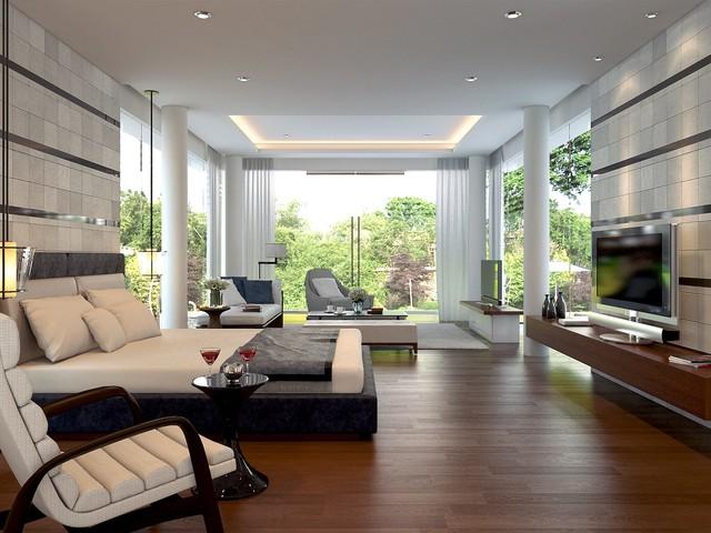 Master Bedroom Modern Tropical Sentul Jakarta Contemporary