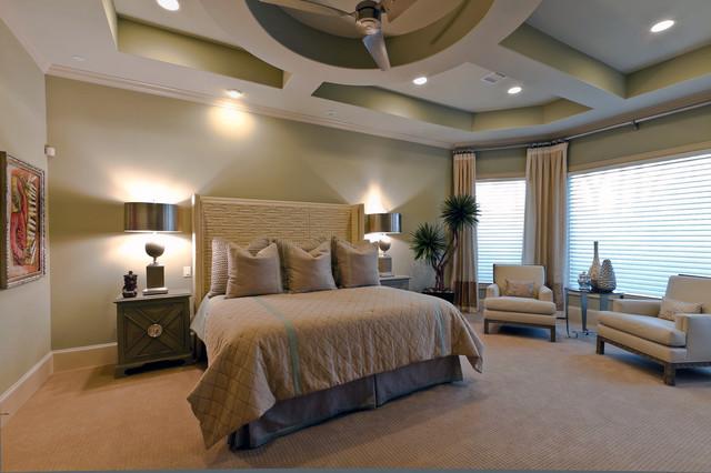 Master Bedroom New Construction - Mediterran - Schlafzimmer - houston ...