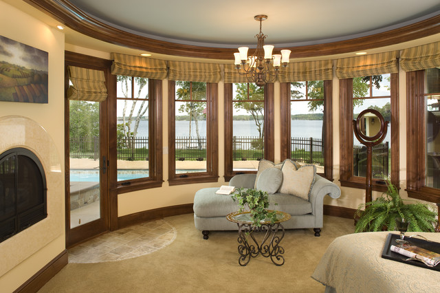 Master Bedroom Overlooking Lake Minnetonka traditional bedroom