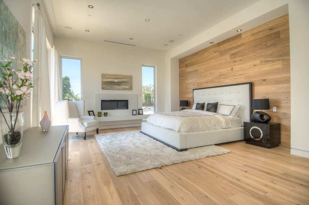 Master Bedroom - Provence European Oak Flooring - Contemporary - Bedroom - Los Angeles - By Garrison Collection