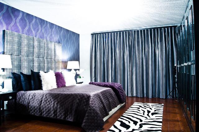 Master bedroom remodel modern glamour style modern for Modern glamour interior design