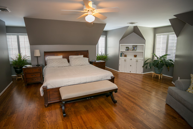 Master Bedroom Remodel With Plantation Shutters Modern Bedroom Kansas City By Horizon