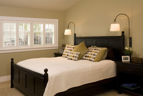 How high should bedroom sconces be placed above headboard? - Houzz