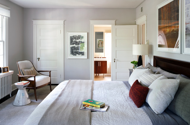 contemporary bedroom by Sightline Art Consulting