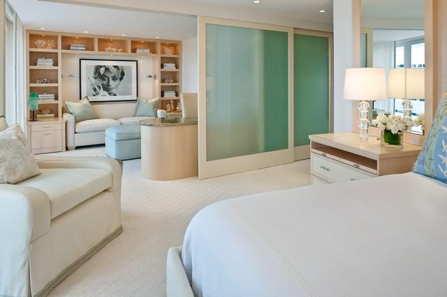 Master Bedroom Sitting Area - Contemporary - Bedroom - Miami ...