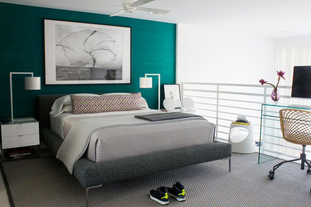 Master bedroom south beach apartment miami beach for Tendance couleur chambre parentale