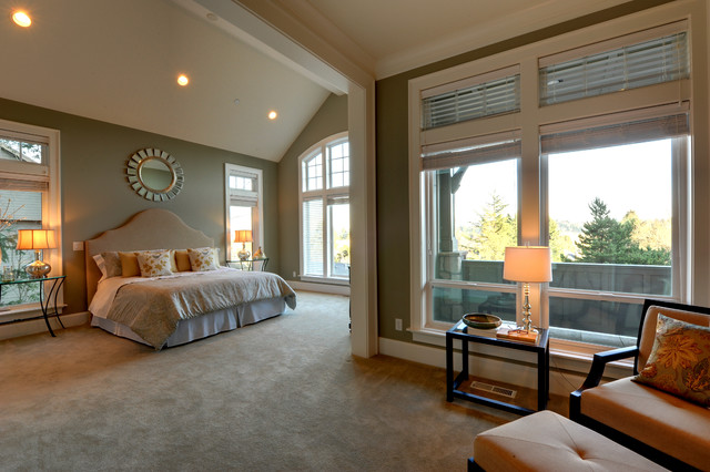 Master Bedroom staged by Synergy Staging contemporary bedroom