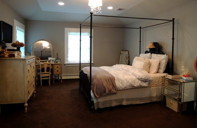 master bedroom suite rear stone patio kitchen craftsman style home