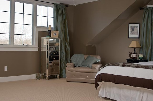Inspiration for a craftsman bedroom remodel in Indianapolis
