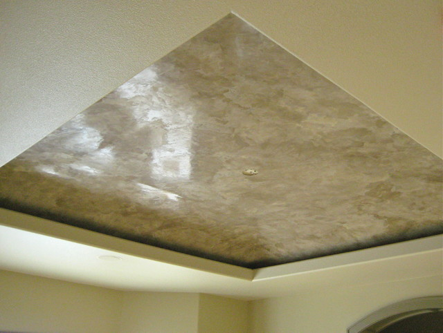 Master Bedroom Tray Ceiling Italian Venetian Plaster Bella Faux Finishes Traditional
