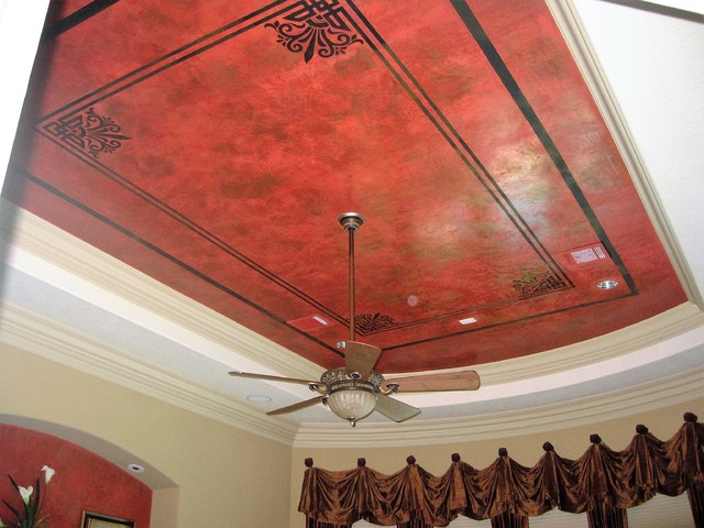 Master Bedroom Venetian Plaster Ceiling Traditional Bedroom Houston By The Artists