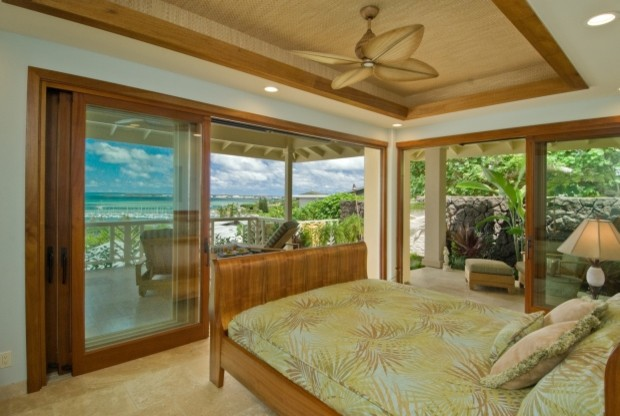 Master bedroom view tropical bedroom hawaii by for Archipelago hawaii luxury home designs