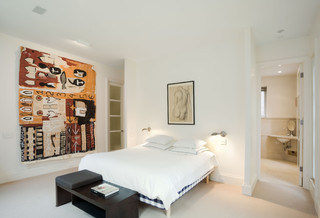 Master Bedroom, Village Townhouse, New York City contemporary-bedroom