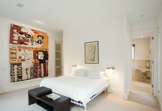 Master Bedroom, Village Townhouse, New York City contemporary bedroom