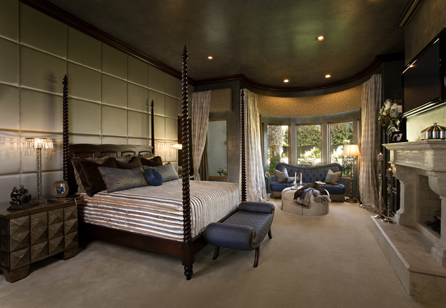 Venetian eclectic bedroom mediterranean bedroom - Big master bedroom design ...