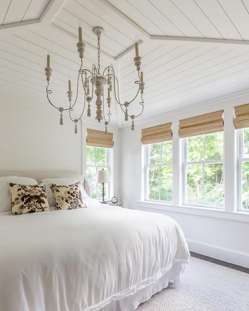 Master Bedroom w/ Shiplap Ceiling - Beach Style - Bedroom ...