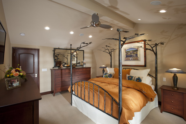 Master Bedroom Vaulted Ceiling master bedroom w/ vaulted ceiling - saratoga, ca - traditional