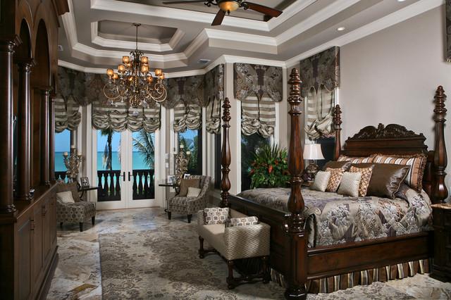 Beachfront luxury mediterranean bedroom miami by for Mediterranean master bedroom ideas