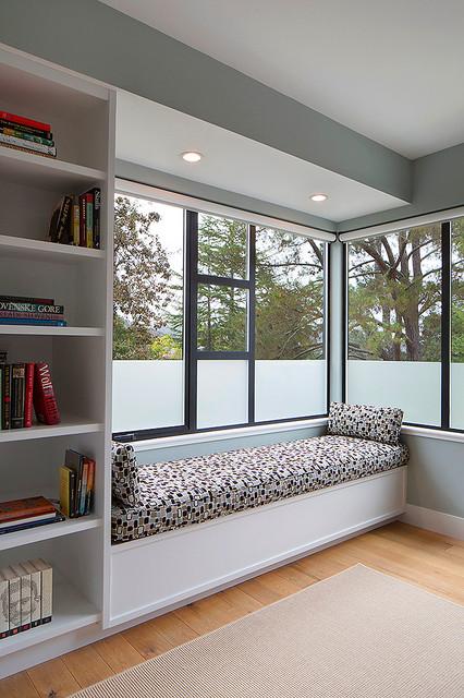 Master bedroom window seat modern-bedroom