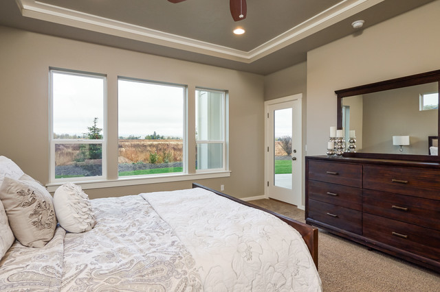 Master Bedroom With Big Windows And Door To The Back Covered Patio Craftsman Bedroom Boise