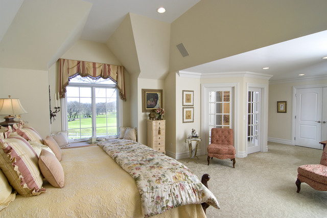 Master bedroom with glass doored sitting room traditional bedroom. Master bedroom with glass doored sitting room