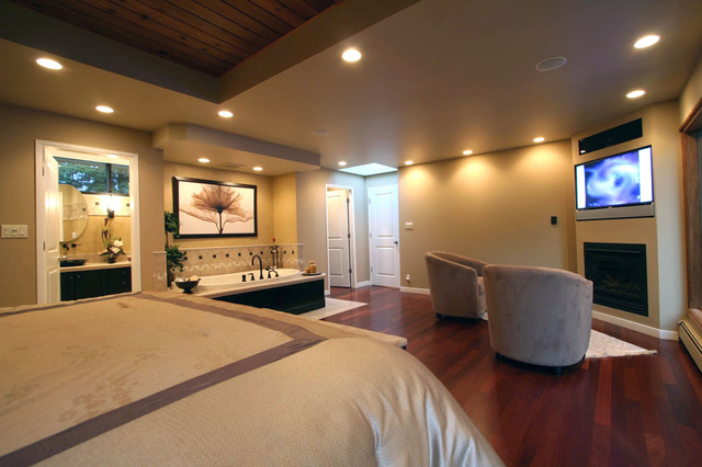 master bedroom with bathtub traditional bedroom vancouver by