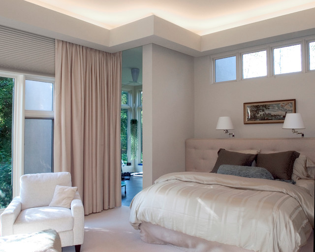 Master Bedroom with Transom Windows and Indirect Lighting ...