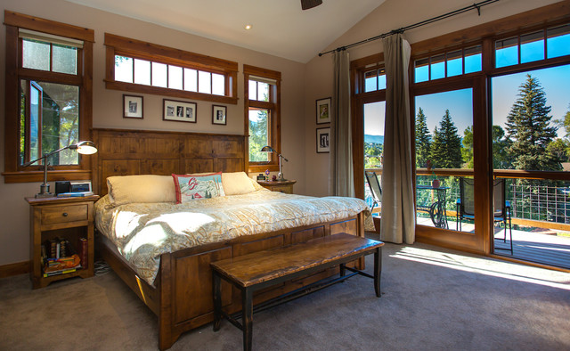 Master Bedroom With Walk Out Balcony Contemporary Bedroom Denver By Charlie Dresen