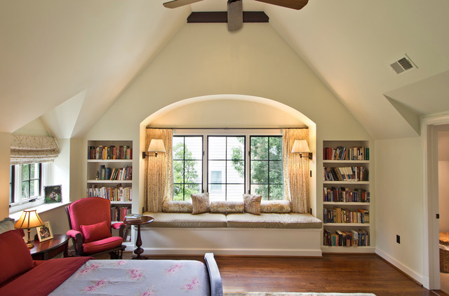 Master bedroom with window seat - Traditional - Bedroom - DC Metro ...